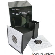 Anglo Arms 14cm Square Funnelled Target Holder, Catcher + 10 Targets