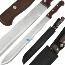 23.75 inch BOLO Machete With Wooden Handle And Sheath (K-MACH-580-23.75)