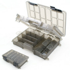 TWO TIER REGULAR CLEAR TACKLE BOX (D001)