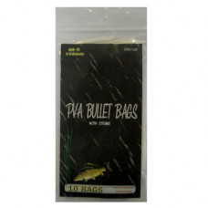 60 x 145MM Fishing PVA BULLET BAGS WITH STRING (10 PACK)