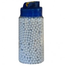 2000 x 6mm 0.12g Polished White Nylon Airsoft Pellets BB's
