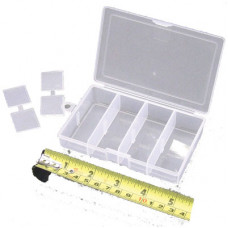 TERMINAL CLEAR BIT BOX 'SMALL ADJUSTABLE COMPARTMENTS' (J65)