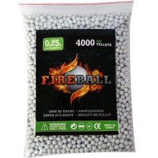 6mm 0.20g BB Polished White Polished high grade FireBall Performance Airsoft Pellets Biodegradable 0.20g 4000 bag