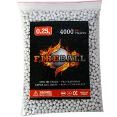 6mm 0.25g BB Polished White Polished high grade FireBall Performance Airsoft Pellets Nylon 0.25g 4000 bag