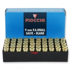 Fiocchi 9mm PA Knall Blanks 50 per box, To be collected from store only