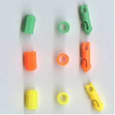 Pole elastic Connectors ( 6 mixed colour )