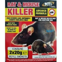 NTI Advanced Formula Rat & Mouse Killer 2 x 20g Refill Sachets