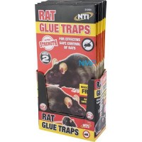 NTI EXTRA STRENGTH LARGE Rat Sticky Glue Traps Boards 2PK