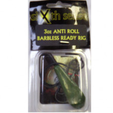 Sixth Sense Ready Made Carp Rigs ANTI-ROLL BARBLESS GREEN 3oz