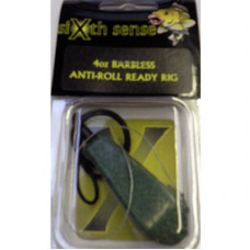 Sixth Sense Ready Made Carp Rigs ANTI-ROLL BARBLESS GREEN 4oz