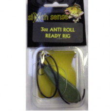 Sixth Sense Ready Made Carp Rigs ANTI-ROLL GREEN 3oz