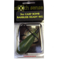 Sixth Sense Ready Made Carp Rigs CARP BOMB BARBLESS GREEN 1.5oz