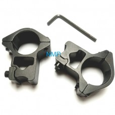 """25mm Scope Mounts Double Screw 3/8"""" Dovetail One Inch HIGH T12013"""