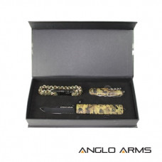 Tactical knive set Camo Lock knive, Multi-Tool and Desert Paracord Wrist Band with whistle