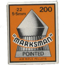 Marksman Pointed .22 calibre Air Gun Pellets 5.5mm 15.5 grains Box of 200