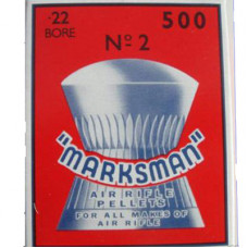 Marksman Round Head .22 calibre Air Gun Pellets 5.5mm 14.00 grains Box of 500