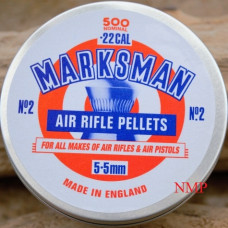 Marksman Round Head .22 calibre Air Gun Pellets 5.5mm 14.00 grains Tin of 500