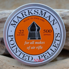 Marksman Pointed .22 calibre Air Gun Pellets 5.5mm 15.5 grains Tin of 500